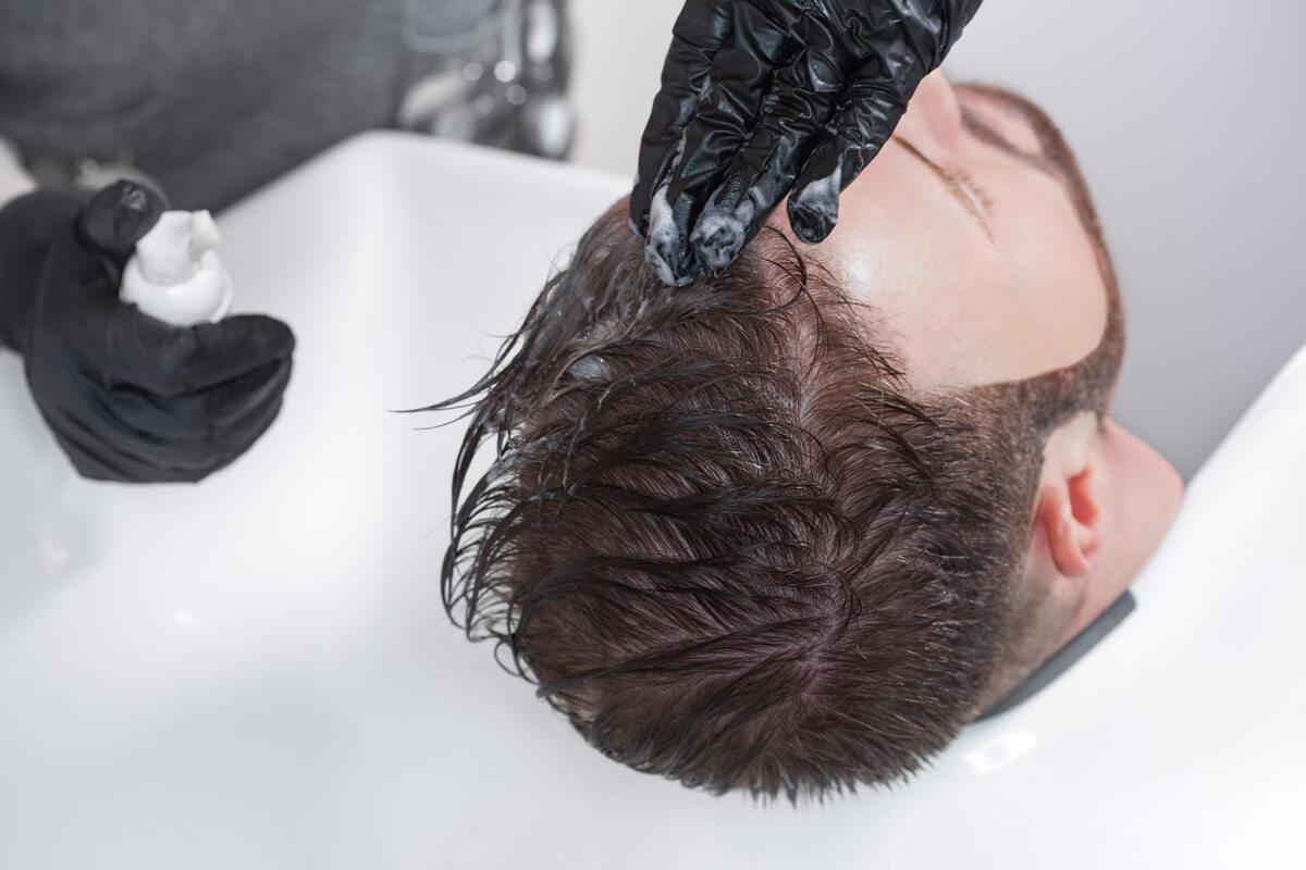 Mann haare grau färben Haare Grau