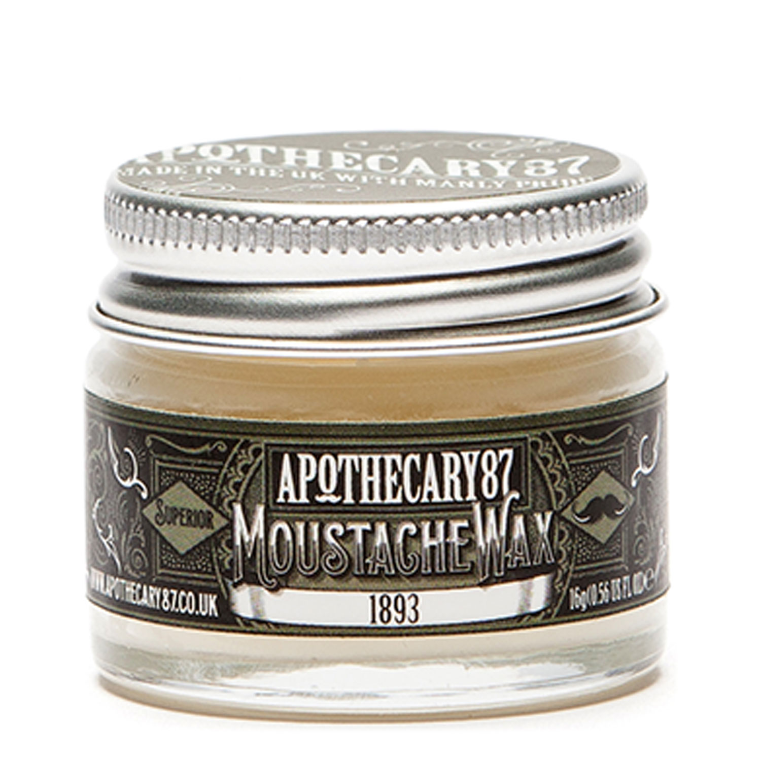 Apothecary87 Grooming - Moustache Wax 1893 Fragrance - 15ml