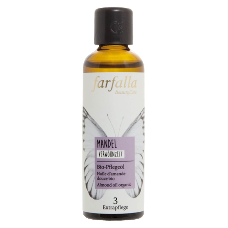Farfalla Bio-Pflegeöl - Mandel, Bio-Pflegeöl Verwöhnzeit - 75ml