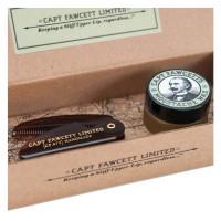 Capt. Fawcett Care - Ylang Ylang Moustache Wax & Folding Pocket Moustache Comb Kit