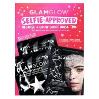 GlamGlow Special - Selfie-Approved Cleanse & Glow Sheet Mask Trio