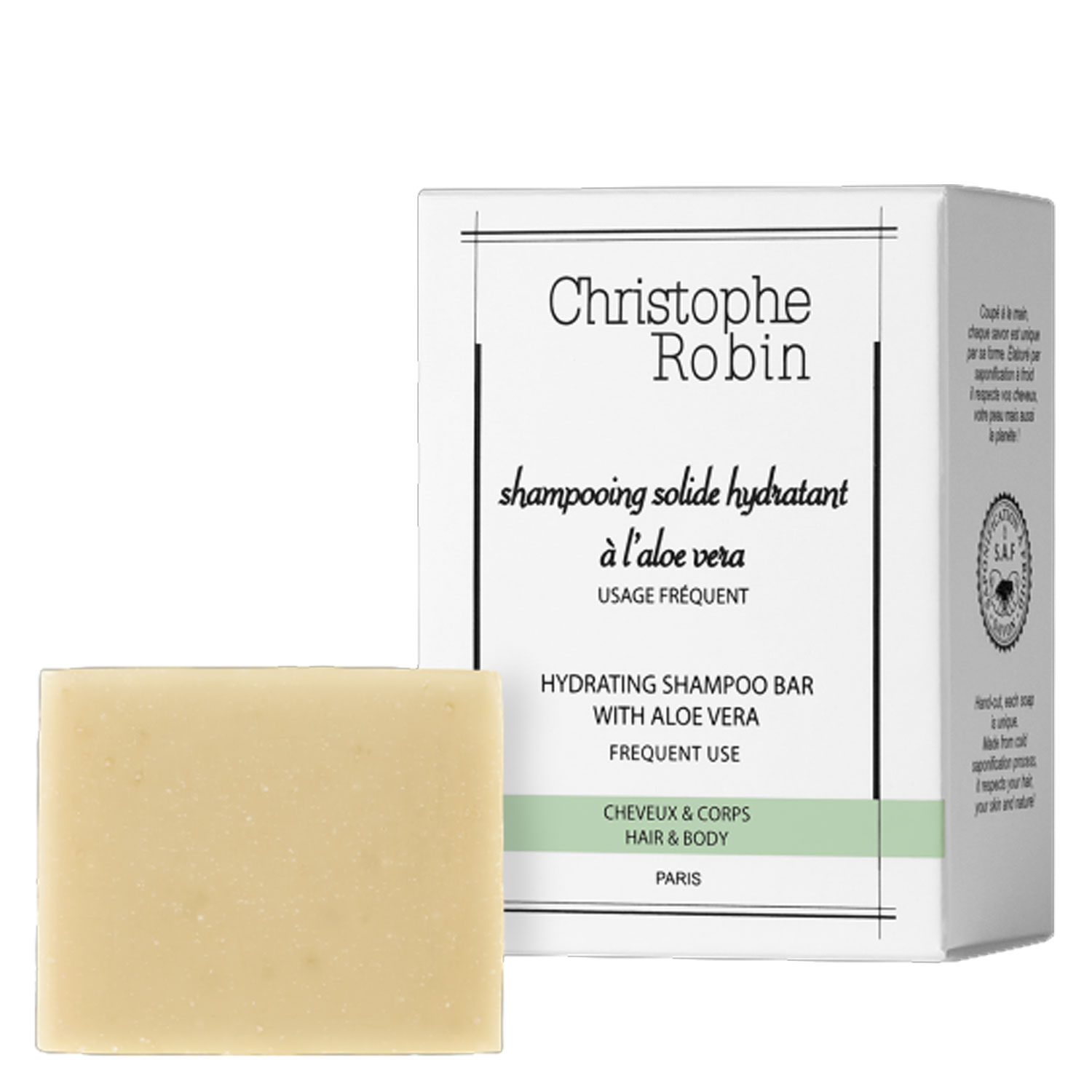 Christophe Robin - Shampooing Solide hydratant à l'aloe vera - 100g