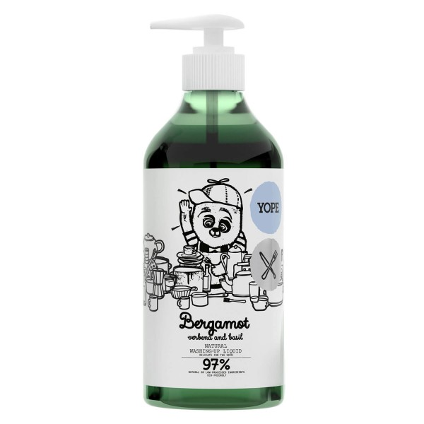 YOPE Home - Natural Washing-Up Liquid Bergamot, Verbena, Basil
