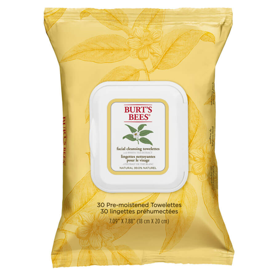 Burt's Bees - Facial Cleansing Towelettes White Tea - 30 Stk.