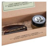 Capt. Fawcett Care - Lavender Moustache Wax & Folding Pocket Moustache Comb Kit