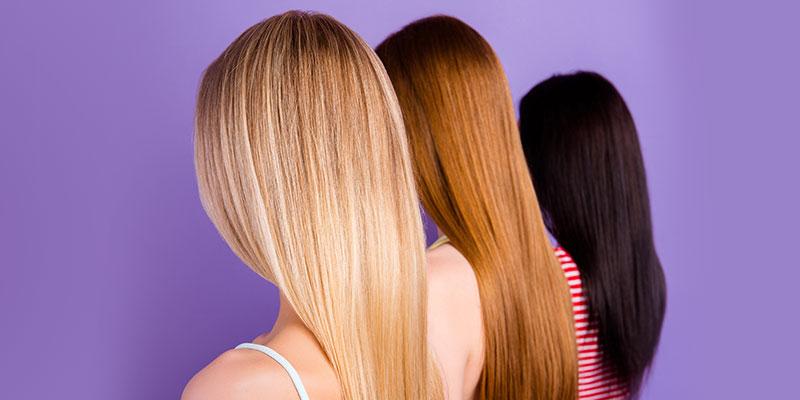 Knalliges rot haarfarbe
