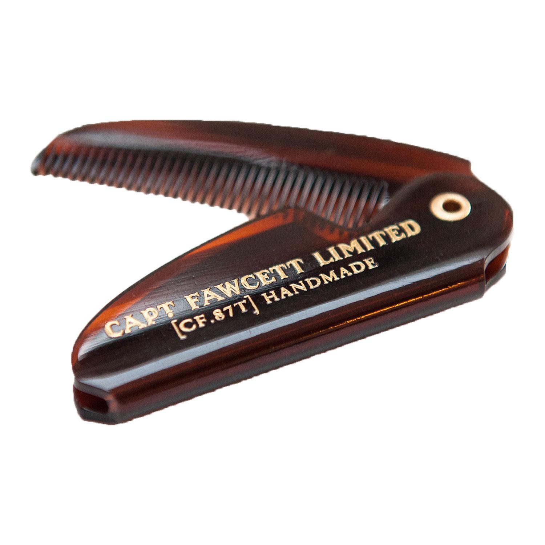Capt. Fawcett Tools - Folding Pocket Moustache Comb -