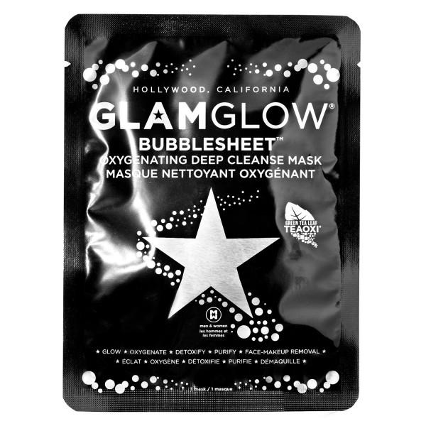 GlamGlow Skincare - BUBBLESHEET Oxygenating Deep Cleanse Mask