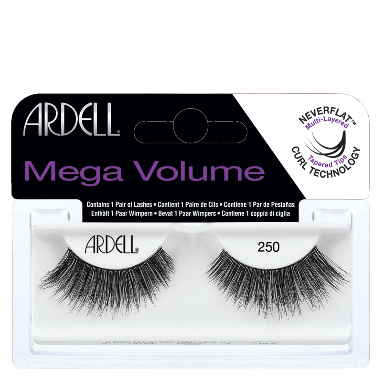 Ardell False Lashes - Mega Volume 250 - 1x