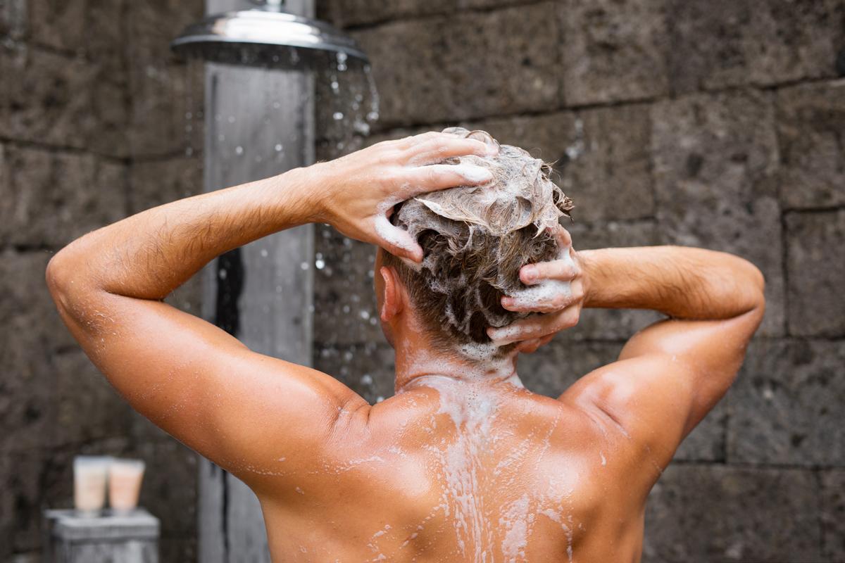 Haare-waschen