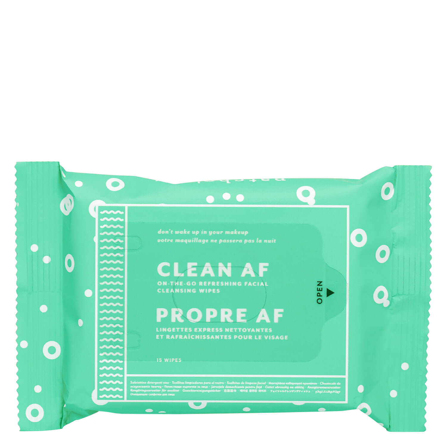 Daily Essentials - Clean AF Facial Cleansing Wipes - 1x15