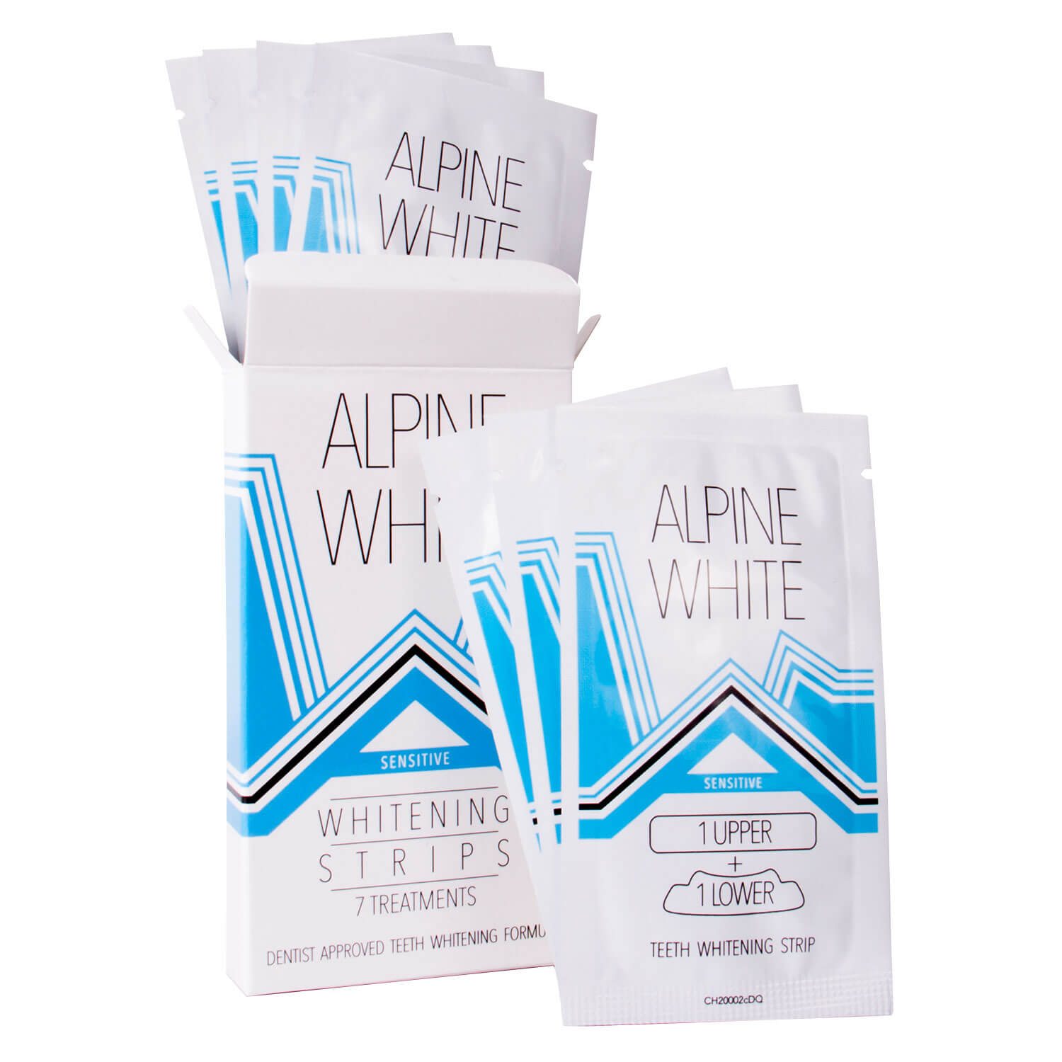 ALPINE WHITE - Whitening Strips Sensitive - 7x